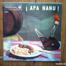 Discos de vinilo: APA NANU - COBLA CARAVANA ( ¡APA NANU! + MARINADA) + COBLA BARCELONA (LA SANTA ESPINA + PESCADORS... Lote 127145579