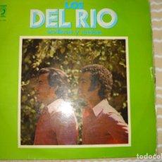 Discos de vinilo: LOS DEL RIO, SEVILLANAS Y RUMBAS. CONTIENE DEDICACION Y FIRMAS. Lote 127162795