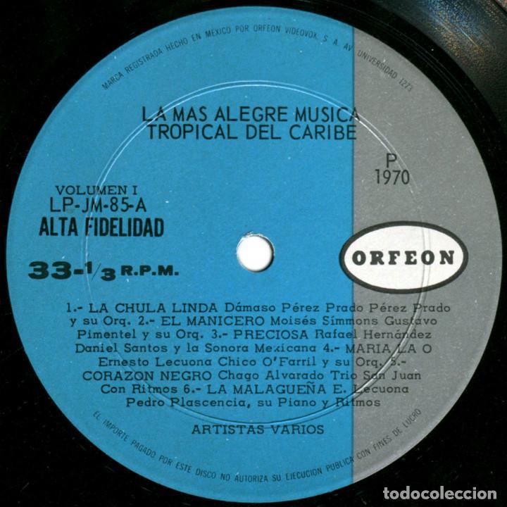Discos de vinilo: VVAA - La mas alegre música tropical del Caribe - Triple Lp Mexico 1970 - Orfeon LP-JM-83 - Foto 5 - 127173295