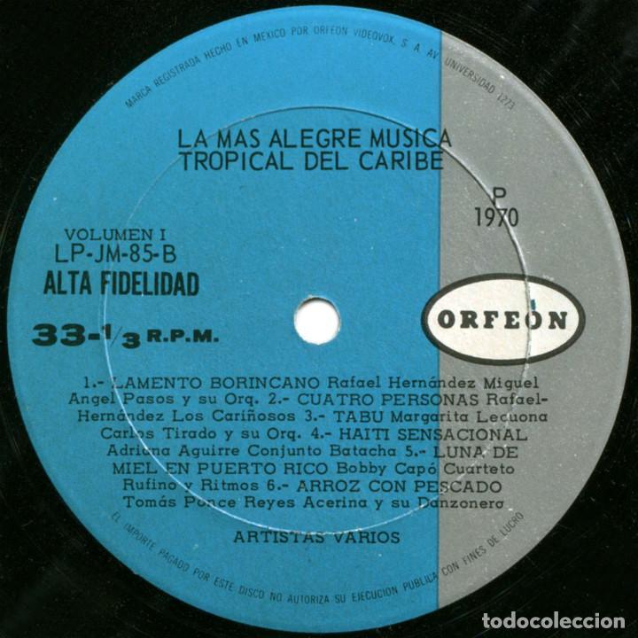 Discos de vinilo: VVAA - La mas alegre música tropical del Caribe - Triple Lp Mexico 1970 - Orfeon LP-JM-83 - Foto 6 - 127173295