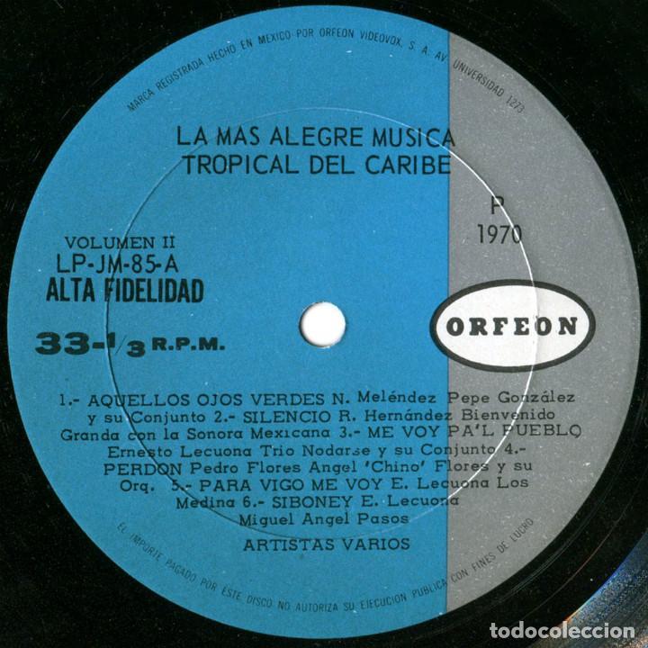 Discos de vinilo: VVAA - La mas alegre música tropical del Caribe - Triple Lp Mexico 1970 - Orfeon LP-JM-83 - Foto 7 - 127173295