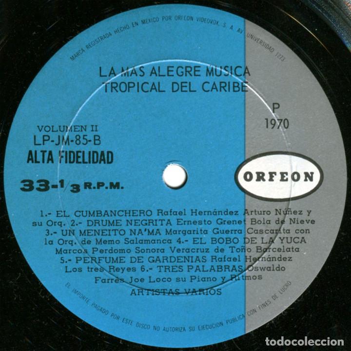 Discos de vinilo: VVAA - La mas alegre música tropical del Caribe - Triple Lp Mexico 1970 - Orfeon LP-JM-83 - Foto 8 - 127173295