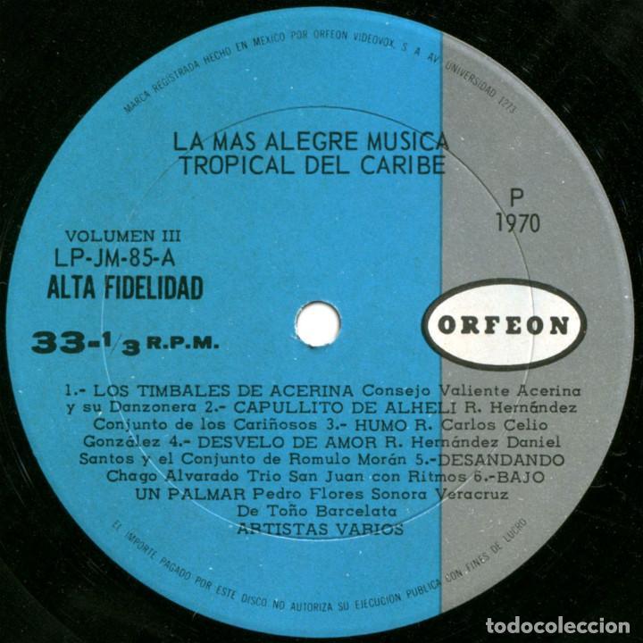 Discos de vinilo: VVAA - La mas alegre música tropical del Caribe - Triple Lp Mexico 1970 - Orfeon LP-JM-83 - Foto 9 - 127173295