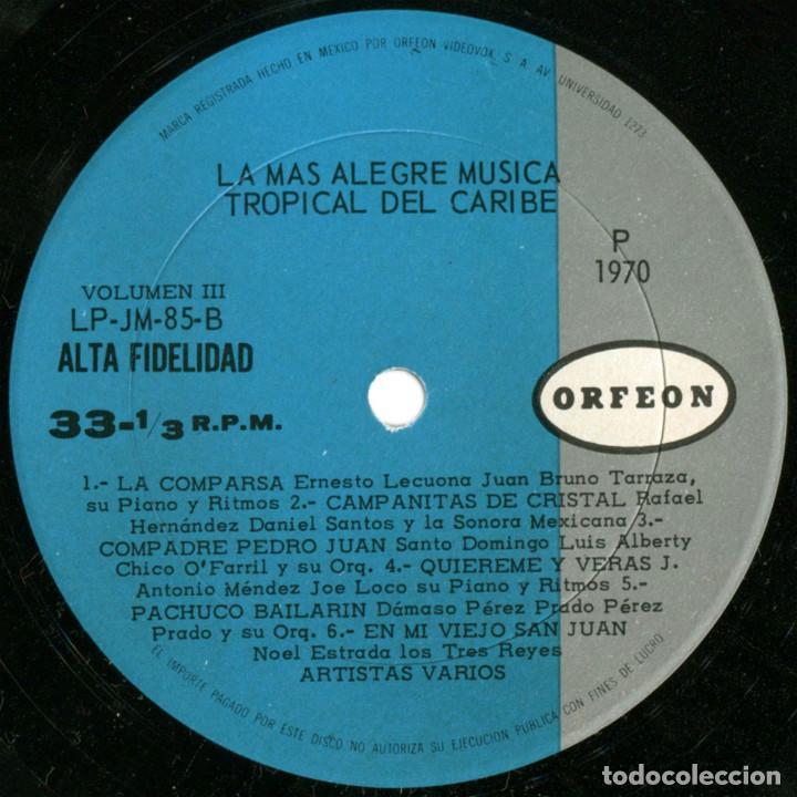 Discos de vinilo: VVAA - La mas alegre música tropical del Caribe - Triple Lp Mexico 1970 - Orfeon LP-JM-83 - Foto 10 - 127173295