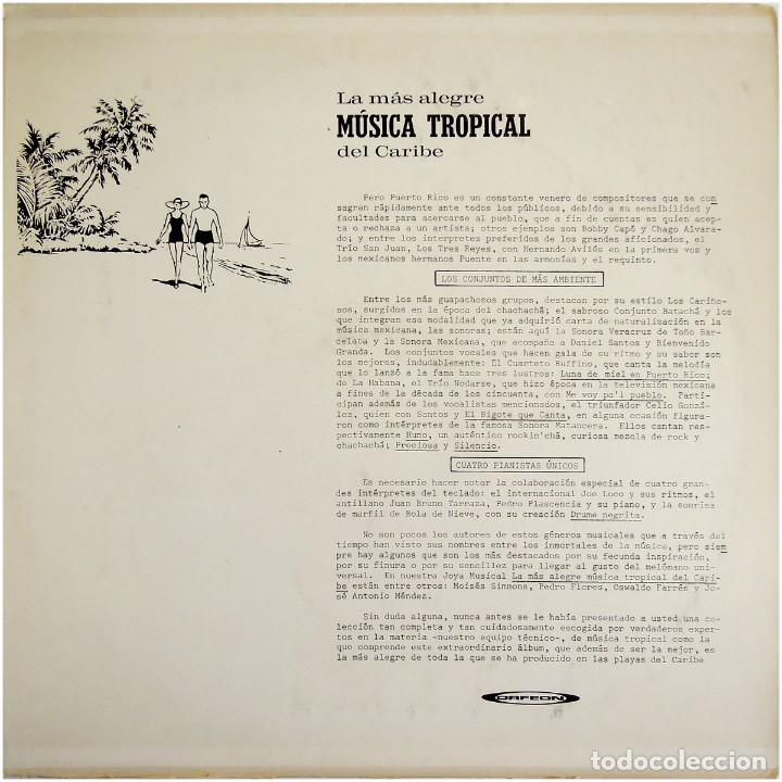 Discos de vinilo: VVAA - La mas alegre música tropical del Caribe - Triple Lp Mexico 1970 - Orfeon LP-JM-83 - Foto 14 - 127173295