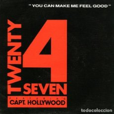 Discos de vinilo: TWENTY 4 SEVEN FEAT. CAPT. HOLLYWOOD – YOU CAN MAKE ME FEEL GOOD - SINGLE PROMO BLANCO Y NEGRO 1991. Lote 127199331