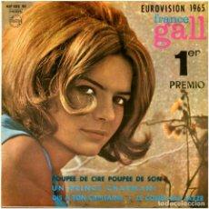 Discos de vinilo: FRANCE GALL – POUPÉE DE CIRE POUPÉE DE SON - EP SPAIN 1965 - PHILIPS 437.032 BE. Lote 127210935