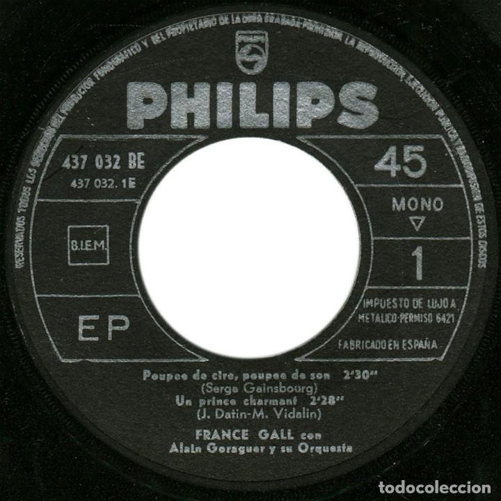 Discos de vinilo: France Gall – Poupée De Cire Poupée De Son - Ep Spain 1965 - Philips 437.032 BE - Foto 3 - 127210935