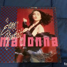 Discos de vinilo: PORTADA MADONNA EXPRESS YOURSELF VINILO 12 PULGADAS MAXI-SINGLE --SOLO PORTADA-- . Lote 127215895