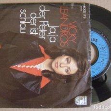 Discos de vinilo: VICKY LEANDROS - JA JA DER PETER DER IST SCHLAU - SINGLE ALEMAN 1975 - PHILIPS. Lote 127218603
