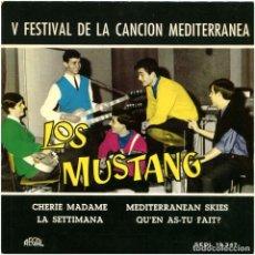 Discos de vinilo: LOS MUSTANG – CHERIE MADAME - EP SPAIN 1963 - REGAL SEDL 19.347. Lote 127220439