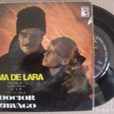Discos de vinilo: MAURICE JARRE ORQ - TEMA DE LARA - EP 1966 - MGM - BANDA SONORA DE LA PELICULA DOCTOR ZHIVAGO. Lote 127223791