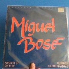 Discos de vinilo: MIGUEL BOSE,( MARCHATE YA)1981 MAXI,ESPECIAL DISCOTECA, LOTE 428. Lote 127224591