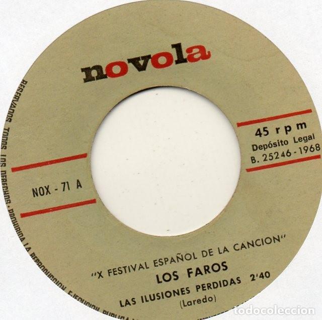 Discos de vinilo: FAROS - FESTIVAL DE BENIDORM / 68 -, SG, ILUSIONES PERDIDAS + 1, AÑO 1968 - Foto 3 - 127227515