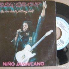 Discos de vinilo: EDDY GRANT - NIÑO JAMAICANO - SINGLE 1982 - ICE. Lote 127229347