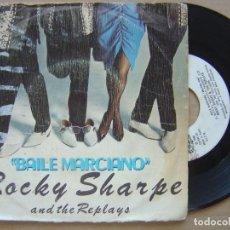Discos de vinilo: ROCKY SHARPE - BAILE MARCIANO - SINGLE 1980 - CHISWICK. Lote 127229511