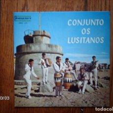 Discos de vinilo: CONJUNTO OS LUSITANOS - EU GOSTO DO VIRA + O MELRINHO DA HELENA + O GRILLO + ENAMORADO. Lote 127256359