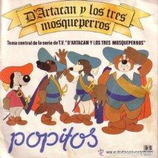 Discos de vinilo: POPITOS, D'ARTACAN Y LOS TRES MOSQUEPERROS, SINGLE BELTER 1982. Lote 127303047