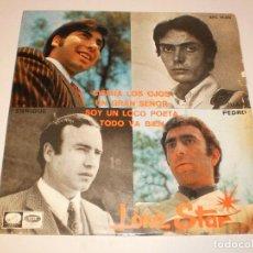 Discos de vinilo: SINGLE LONE STAR. CIERRA LOS OJOS. UN GRAN SEÑOR. SOY UN LOCO POETA. TODO VA BIEN, EMI 1967 PROBADO. Lote 127395139