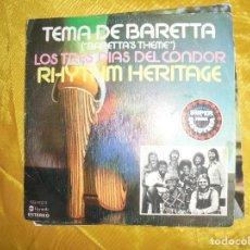 Discos de vinilo: RHYTHM HERITAGE. TEMA DE BARETTA. ABC RECORDS, 1976. IMPECABLE. Lote 127442367