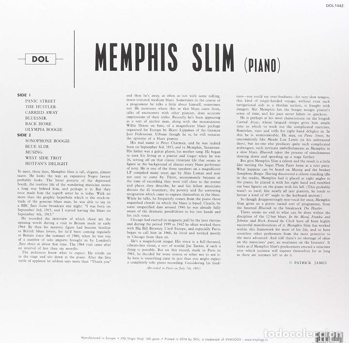 Discos de vinilo: Memphis Slim * LP HQ Virgin Vinyl 140g * Five Hundred Dollars * LTD Precintado!! - Foto 2 - 127445095