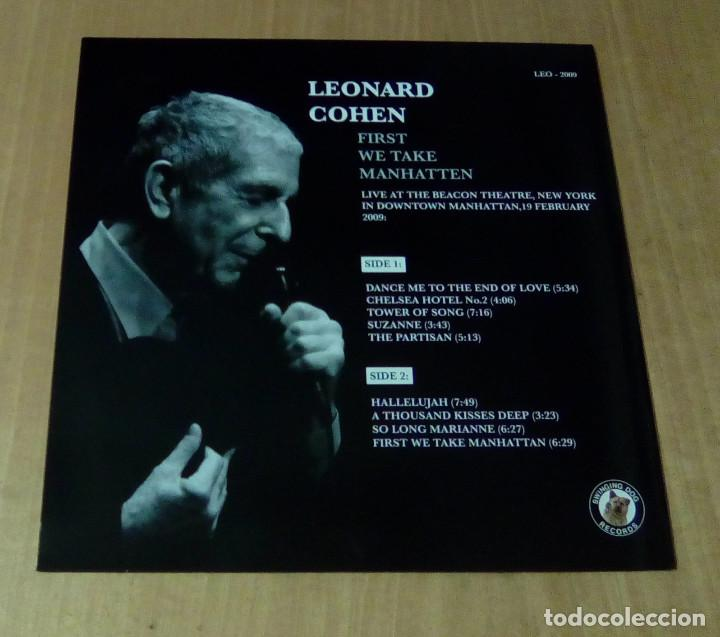 Discos de vinilo: LEONARD COHEN - First We Take Manhatten (LP no oficial) NUEVO - Foto 2 - 127445551