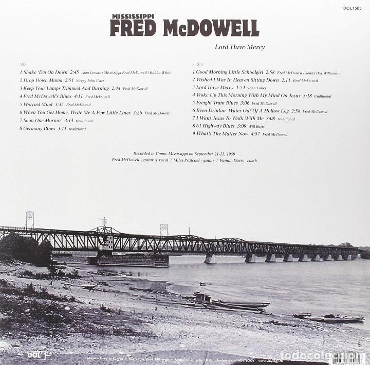Discos de vinilo: Mississippi Fred McDowell * LP HQ Virgin Vinyl 140g * *Lord Have Mercy * LTD Precintado!! - Foto 2 - 127451251