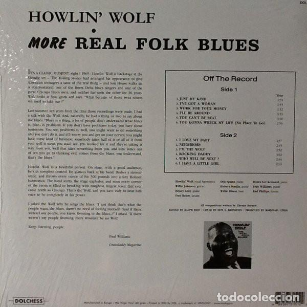Discos de vinilo: Howling Wolf * LP HQ Virgin Vinyl 140g * More Real Folk Blues * LTD Precintado!! - Foto 4 - 127452683