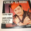 Discos de vinilo: SINGLE EMILIO EL MORO TÚ ERES RAQUEL JUANITA AVELLANA TERCIOPELO FINO CAENA DE ORO DISCOPHON 1966 . Lote 127455023