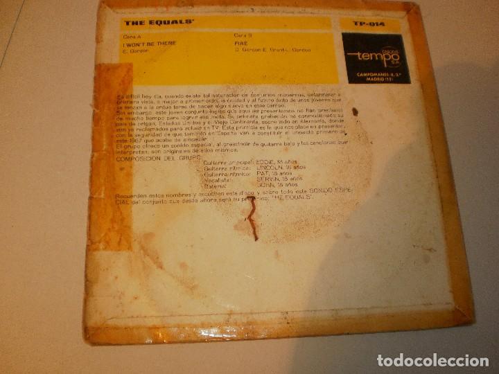 Discos de vinilo: single the equals. i won't be there. fire. tempo 1967 spain (probado y bien) - Foto 2 - 127458447