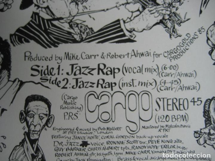 Discos de vinilo: CARGO MAXI SINGLE SERDISCO 1986 - JAZZ RAP VOLUMEN 1 - HIP HOP - Foto 3 - 127486603