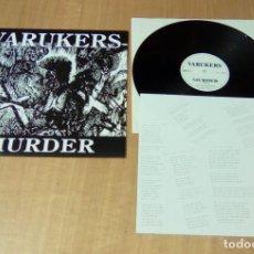 Discos de vinilo: VARUKERS - MUERDER (LP EDICIÓN ACTUAL, INCLUYE ENCARTE, WE BITE RECORDS WB-1-165-1) NUEVO. Lote 127487263