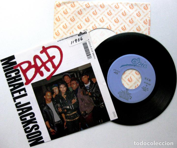 MICHAEL JACKSON - BAD - SINGLE EPIC 1987 PROMO JAPAN (EDICIÓN JAPONESA) BPY (Música - Discos - Singles Vinilo - Funk, Soul y Black Music)