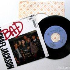 Discos de vinilo: MICHAEL JACKSON - BAD - SINGLE EPIC 1987 PROMO JAPAN (EDICIÓN JAPONESA) BPY. Lote 127497443