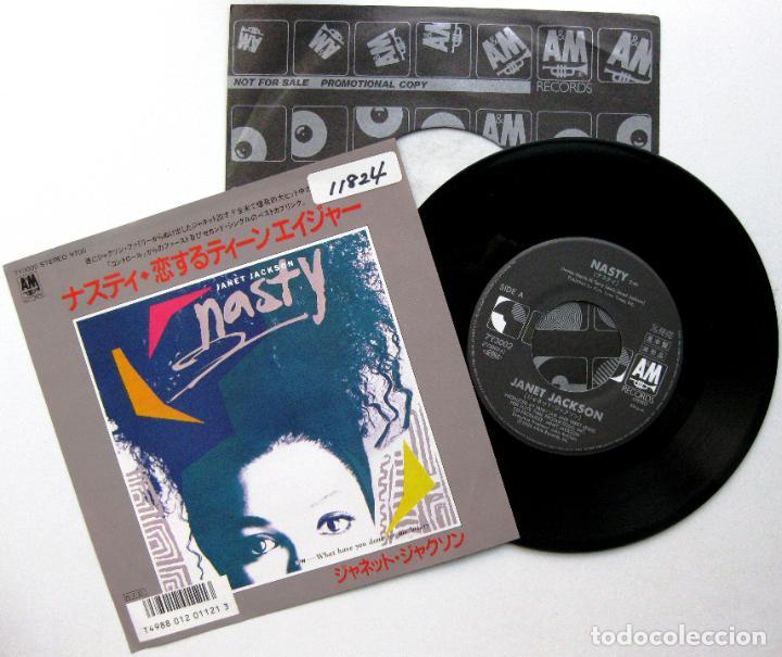 JANET JACKSON - NASTY - SINGLE A&M RECORDS 1986 PROMO JAPAN (EDICIÓN JAPONESA) BPY (Música - Discos - Singles Vinilo - Funk, Soul y Black Music)