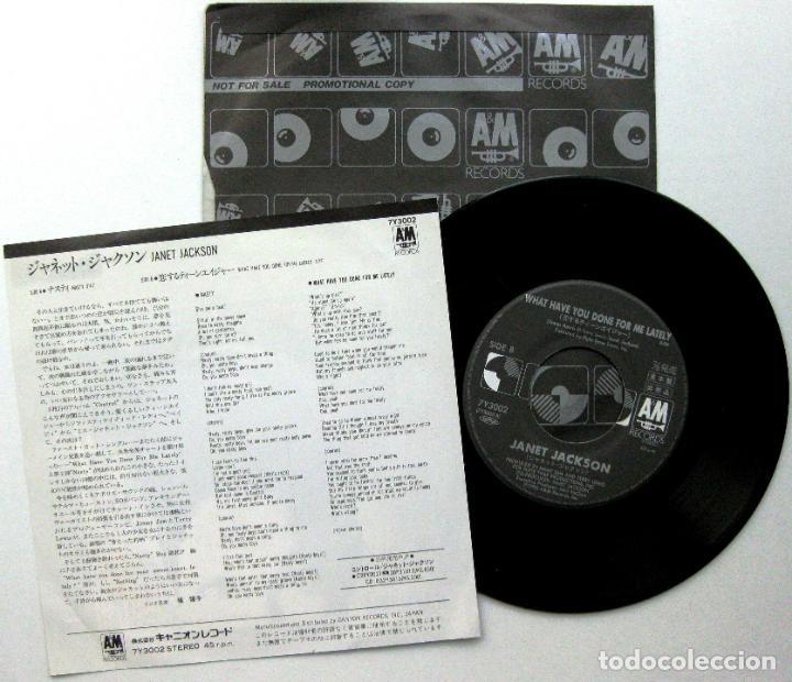 Discos de vinilo: Janet Jackson - Nasty - Single A&M Records 1986 PROMO Japan (Edición Japonesa) BPY - Foto 2 - 127498311