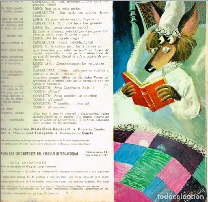 Discos de vinilo: MINI LP BLANCANIEVES CARA A - CAPERUCITA ROJA CARA B - 1967- Regalo de otro disco de Blanca Nieves - Foto 3 - 127515591