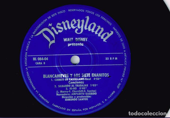 Discos de vinilo: MINI LP BLANCANIEVES CARA A - CAPERUCITA ROJA CARA B - 1967- Regalo de otro disco de Blanca Nieves - Foto 6 - 127515591