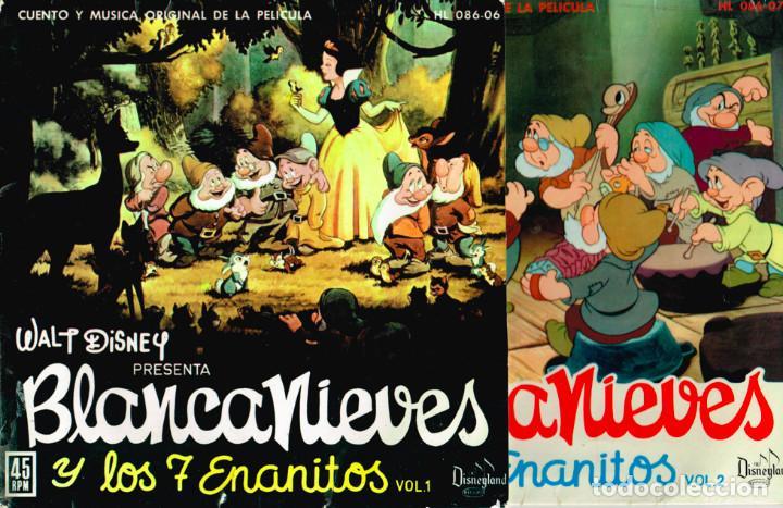 CUENTO-DISCO DE BLANCANIEVES EN DOS VOLUMENES. HISPAVOX 1962 == BLANCA NIEVES (Música - Discos - Singles Vinilo - Música Infantil)