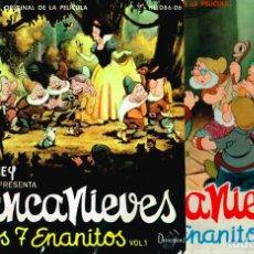 Discos de vinilo: CUENTO-DISCO DE BLANCANIEVES EN DOS VOLUMENES. HISPAVOX 1962 == BLANCA NIEVES. Lote 127520607