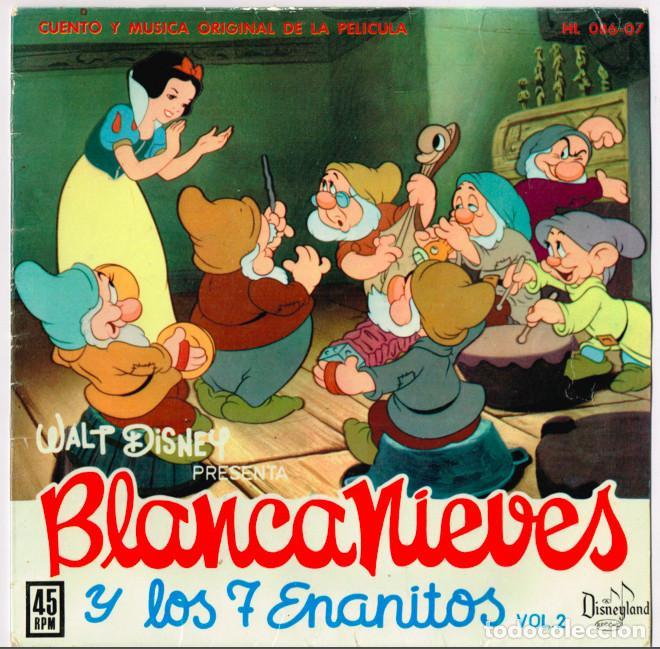 Discos de vinilo: CUENTO-DISCO DE BLANCANIEVES EN DOS VOLUMENES. Hispavox 1962 == BLANCA NIEVES - Foto 3 - 127520607