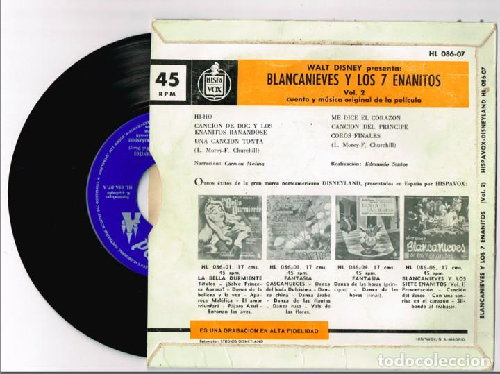 Discos de vinilo: CUENTO-DISCO DE BLANCANIEVES EN DOS VOLUMENES. Hispavox 1962 == BLANCA NIEVES - Foto 4 - 127520607