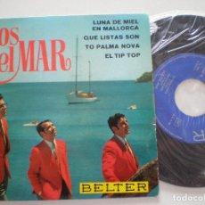 Discos de vinilo: LOS DEL MAR - LUNA DE MIEL +3 - EP BELTER 1968. Lote 127524795