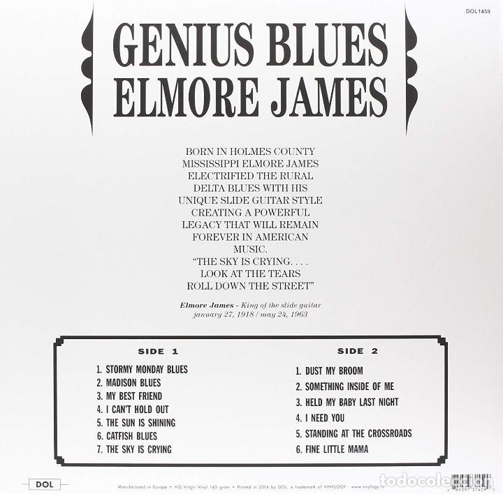 Discos de vinilo: ELMORE JAMES * LP HQ Virgin Vinyl 140g * GENIUS BLUES * RARE * LTD Precintado!! - Foto 2 - 127532167