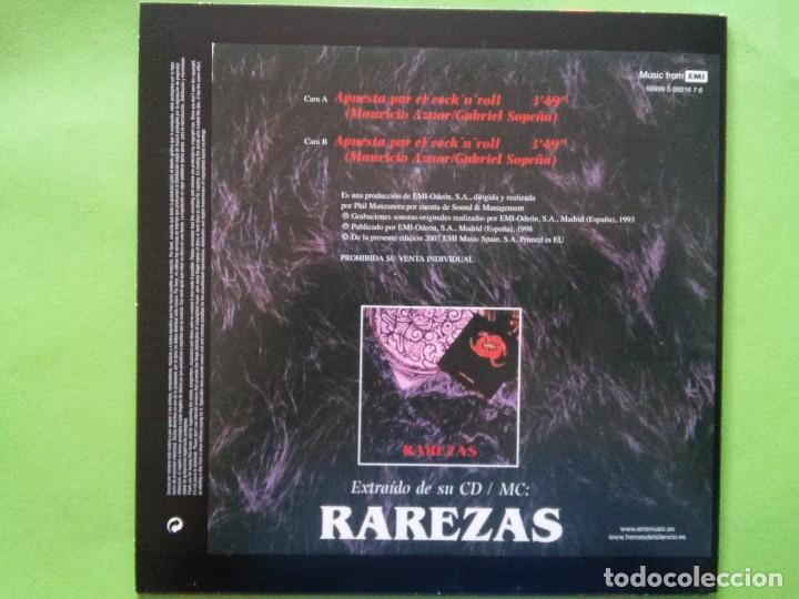 Discos de vinilo: HÉROES DEL SILENCIO: APUESTA POR EL ROCK´N´ROLL. SINGLE VINILO. REEDICIÓN 2007. - Foto 2 - 127569355