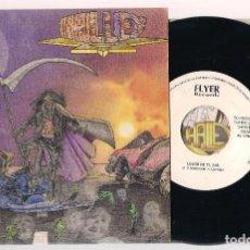 Discos de vinilo: HALLEY - PRESTARÁS ATENCIÓN + LEJOS DE TI (SINGLE 7'' 1992, FLYER RECORDS SGF 92003). Lote 127654191