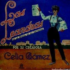Discos de vinilo: CELIA GAMEZ (LAS LEANDRAS) CHOTIS DEL PICHI / JAVA DE LAS VIUDAS + 2 (EP 1959). Lote 127660363