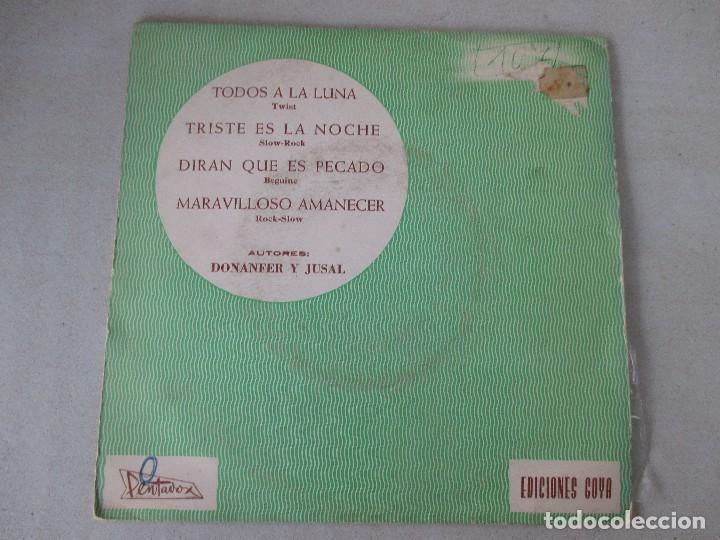 JOSE LUIS DE UTIEL CON GRAN ORQUESTA DE JAZZ TODOS A LA LUNA + 3 PENTAVOX 1965 (Música - Discos de Vinilo - EPs - Solistas Españoles de los 50 y 60)