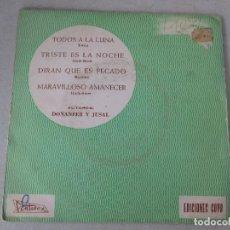 Discos de vinilo: JOSE LUIS DE UTIEL CON GRAN ORQUESTA DE JAZZ TODOS A LA LUNA + 3 PENTAVOX 1965 . Lote 127678311