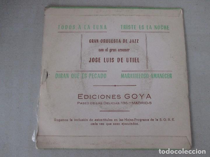 Discos de vinilo: Jose Luis de Utiel con gran orquesta de jazz Todos a la luna + 3 PENTAVOX 1965 - Foto 2 - 127678311